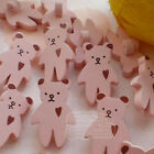Salmon Bear Wood Buttons 15mm Sewing Craft Scrapbooking CWB004