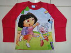 BNWT Dora Girls Long Sleeve T-shirt Tee Size 3,4,5,6,7