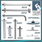 Pura Chrome Shower Arms Fixed Wall & Ceiling Mounted + Square & Round Heads