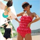 New Halter Ruffle One-Pieces Monokini Swimsuit Swimwear