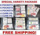 (75) COUPONS SLEEVES PAGES ORGANIZER BINDERS (8 - 6 - 4 - 4C - 3C POCKET SIZES)