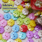 Assorted Fan Floral 13mm Plastic Buttons Sewing Scrapbooking Cardmaking ASTB09