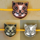 Silver,Bronze,Red Copper,Spacer Beads Metal Cat 10x11mm
