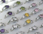 Rhinestone Silver Rings 3 for 2! - Size Q (17)