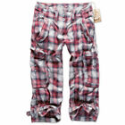 BRANDIT VANITY LADIES 3/4 PANTS rot kariert XS-XL Vintage Damen Shorts red check