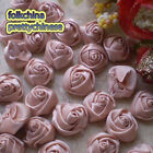 Almond 15mm Polyester Rose Trimming Sewing Scrapbooking Appliques HB15-121