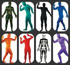 SKINZ LYCRA BODYSUIT SECOND SKIN SKELETON, CAMOUFLAGE,RED ,BLUE ALL SIZES