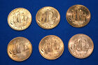 6 Shove halfpenny ha-penny coins - 1959, 1964 & 1967 available -Queen Elizabeth