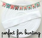 White Cotton Tape - Choice of 13mm, 19mm or 25mm Width - Bunting, Apron Tape