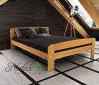 Double  Bed' Klaudia' 4ft 6in new wooden oak walnut pine alder furniture