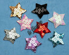 "U PICK ~ 1-3/8"" Padded Satin Sequin Star Appliques X'mas Patriotic x 50pcs #2557"