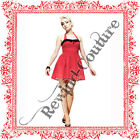 HELL BUNNY CUTIE PIE RED POLKA DOT MINI VTG 50s ROCKABILLY PINUP PARTY DRESS