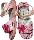 Open Toe Sandals Beach Shoes Shoe Summer Pink/White Flower Low heal Velcro Boxed