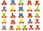 BigJigs Train Set Letters Rail Name Starter Colorful Personalized Carriage