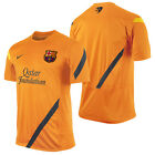 Nike BARCELONA Official 2011-12 SOCCER TRAINING JERSEY Orange Brand New
