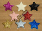 "U PICK COLOR~ 1.5"" Padded Glitter Star Appliques USA Flag Patriotic x80pcs #3411"