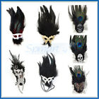VARY STYLE RHINESTONE BUTTERFLY/SKULL/CAT/MASK BALL FEATHER BROOCH PIN HAIR CLIP