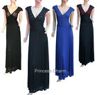 Blue Black Formal Evening Mother of the Bride Dress Cap Sleeves Size 24 to 8 New