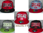 BRAND NEW FLAT PEAK VINTAGE CHICAGO (CHI) SNAPBACK BASEBALL CAP WITH TAGS