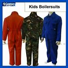 New Kids Childrens Childs Boys Girls Boilersuit Overalls Coverall Red Navy Royal
