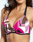 NEW Fantasie Athens Halter Triangle Bikini Top 5394 Pink Flambe Sizes 32-38