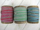 BUY ONE GET ONE FREE 3m Inca Wave Ribbon in 3 Colourways-Cards, Giftwrap, Sewing