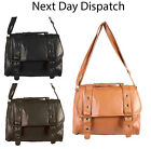 New Ladies Shoulder Bag Across Body Leather Look Satchel Designer Womens Handbag