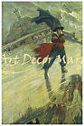 The Flying Dutchman, Howard Pyle - CANVAS OR PRINT WALL ART