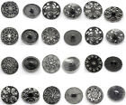 Silver New Tone Sewing Metal Buttons M0334