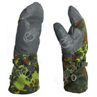 German Army Flecktarn Camo Mittens All Sizes Camouflage Military Gloves