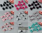 Lot 100 Handmade Fabric Swiss Dot Butterfly Bow Ties Appliques For Sewing Craft