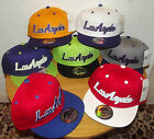 BRAND NEW FLAT PEAK VINTAGE LOSANGELES SNAPBACK KIDS BASEBALL CAP WITH TAGS