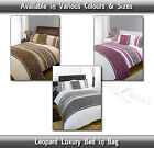 Leopard Grey, Pink , Chocolate, All Sizes Bed In a Bag Quilt Duvet Cover Set New