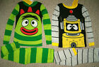 Yo Gabba Gabba 2-pc Pajamas Set Brobee or Plex  Sizes  2T - 3T - 4T  NWT