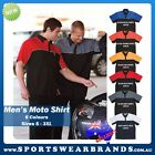 Mens Moto Shirt Mechanic Auto Club Top Work Shop Short Sleeve Adults 6 Colour 4M