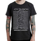 Joy Division-unknown pleasures rock band music design black t-shirt