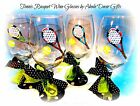 Tennis Wine Glass Hand Painted INDIVIDUAL Glasses Gift Racquet Tournament