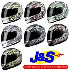 KBC XP3 DRAGO FULL FACE MOTORCYCLE MOTORBIKE CRASH HELMET RACING RACE LID J&S