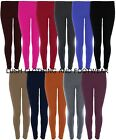 NEW WOMENS LADIES GIRLS PLAIN FULL LENGTH LEGGINGS TROUSERS PANTS-SIZE 8-14