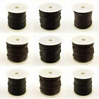 5M Genuine LEATHER Round Thong Cord Reel 1mm 1.5mm 2mm 3mm 4mm