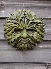 ROUND GREEN MAN DECORATIVE WALL PLAQUE HOME OR GARDEN PAGAN GREENMAN PLAQUE