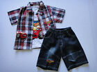 BNWT Disney Car summer 3pcs set (Shirt, singlet and jeans short) 2,3,4,5,6