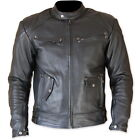 NEW choper vintage Harley Davidson style leather motorcycle jacket en cuir