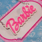 FUNKY LARGE BARBIE NAME NECKLACE CUTE KITSCH RETRO SWEET KAWAII BABY PENDANT