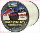 Bulk Spool of Shakespeare Beta Sea Fishing Line Red / Clear upto 853m for Reel