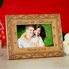 Personalized Wedding Picture Frame Engraved Wood Wedding Photo Frame in 3 sizes