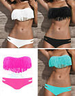 HOT New Sexy Women's Padded boho fringe dolly bikini Swimwear bathing Clothing