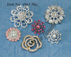 U PICK~ Crystal Rhinestone Shank Button Buckle Charm Accessories Crafts #4963