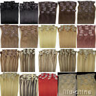 Multiple 20inch 8pcs clips-on human hair extensions women' s accessories beauty