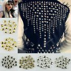 WHOLESALE PYRAMID STUDS RIVET SPIKE NICKEL PUNK BAG SHOES LEATHERCRAFT MANY SIZE